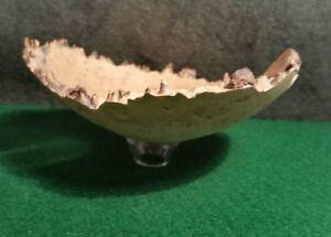 Dale Rouleau Turned Birdseye Maple Burl Wood Dish/Bowl Signed Superb Art!