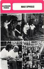 FICHE CINEMA :  MAX OPHULS -  Allemagne (Biographie/Filmographie)