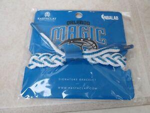 NEW Rastaclat NBA ORLANDO MAGIC Braided Team Bracelet White/Blue Away