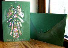 Handmade Quality CHRISTMAS CARDS ANGEL Luxurious Pearlescent Card & Envelope