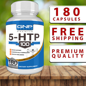 5-HTP 180 Capsules - 100mg - Support Stress Relief - Anxiety - Sleep - Tablets