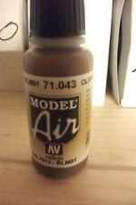 AIRBRUSH PAINT VAL043 - AV Vallejo Model Air - Olive Drab 17ml BOTTLE
