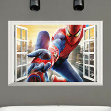 3D Asombroso Spiderman Adhesivos De Pared Pegatina Adhesiva Vinilo Niños