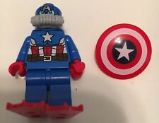 Lego Marvel CAPTAIN AMERICA minifigure from Iron Skull Submarine Attack 76048