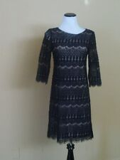 NWOT Eliza J Lace Overlay Dress SZ.8 Black/Caramel