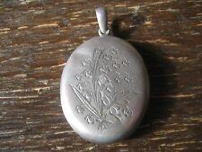 sehr seltenes Jugendstil Medallion Anhänger silber Glockenblumen Dose Döschen