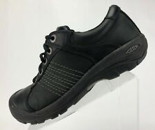 Keen Outdoor Shoes Finlay Lace Up Black Leather Round Toe Walking Sneaker Mens 7