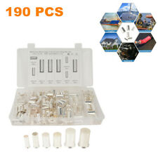 190Pcs Plated Cable Housing Wire Ferrules Pin Cord End Terminal Connector w/Box