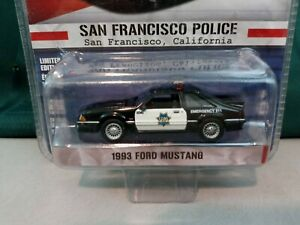Greenlight Hot Pursuit San Francisco Police 93 Ford Mustang Die Cast Toy1:64 NIP