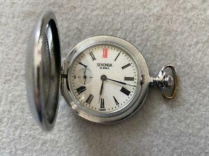Sekonda 18 Jewels Vintage USSR Mechanical Wind Up Pocket Watch