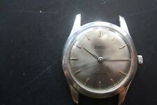 VINTAGE ZODIAC AUTOMATIC STAINLESS STEEL, S/GREY DIAL GOOD CONDITION WRISTWATCH