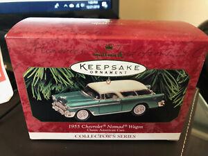 Hallmark Ornament 1999 Classic American Cars 1955 Chevrolet Nomad Wagon 9th