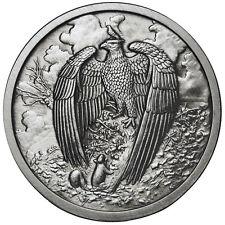 1 OZ GREAT EAGLE ANTIQUE .999 Silver w/ COA NORDIC CREATURES #5 VIKING VALKYRIE