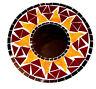 Miroir en Mosaïque Glace Bois Soleil Artisanat Mosaic Mirror Sun Rouge Mosaique