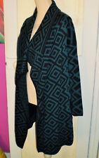 BETTY JACKSON Manteau gilet couleur vert et noir taille 40 TBE