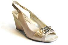Anne Klein AKSport Peregrine Platform Wedge Womens Sandal, Gold Color,8M,Used