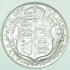 More details for 1916 george v halfcrown, british silver coin gef