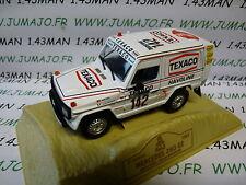 voiture 1/43 norev PARIS/ Dakar : MERCEDES 280 GE 1983 J.ICKX C.BRASSEUR