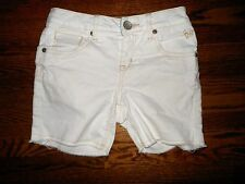 Girl's Justice White Denim Shorts Size 10