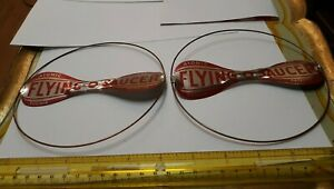 FORMIS VINTAGE TIN ATOMIC JET FLYING O SAUCER HELICOPTER TOY LOT OF 2  MINT