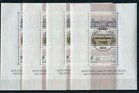 Bund Block 20 gestempelt (4 Stück) ESST Bonn BRD 1287 - 1289 used