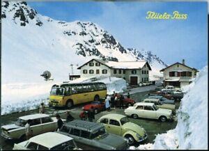 Postcard Postauto Flüela-Pass Passhöhe Switzerland 1974 original