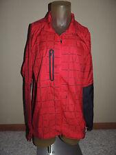 NWT Mens Size 2XL Reebok CrossFit Slim Red Lightweight Jacket Coat Z23808