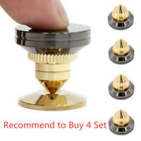 1set Gold Speaker Spike + Floor Discs Stand Foot Cone Isolation Spikes