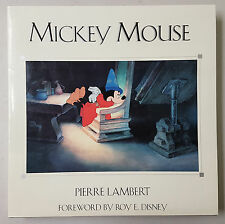 Mickey Mouse - Pierre Lambert -SIGNED LIMITED EDITION Book- Hyperion 1998 Disney