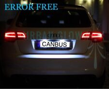 AUDI TT A3 A4 S3 A5 LED Xenon WHITE NUMBER PLATE LIGHT BULBS ERROR FREE