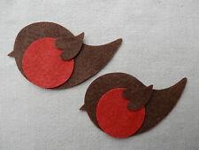 Bulk x24 FELT - ROBIN bird die cuts Christmas Bunting Decorations appliques