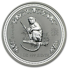 2004 1 oz Silver Australian Perth Mint Lunar Year of the Monkey Coin - SKU #1100