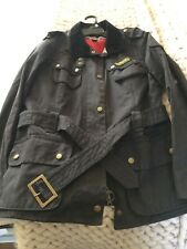 barbour international wax jacket Ladies Size 14, black.