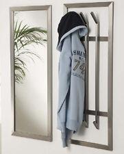 Garderobenspiegel Wandspiegel 100x40 Edelstahlrahmen matt