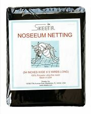 """Mosquito no-see-um netting/net 54"""" wide x 5 yards long, color black, by Skeeta"""