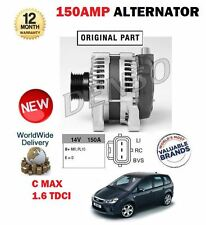 FOR FORD CMAX C MAX TDCI MPV 2007--> NEW 150A ALTERNATOR WITH PULLEY COMPLETE