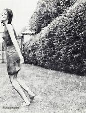 1966 Vintage 11x14 Rain Wet SEXY FEMALE Fashion Woman Photo Art By WINGATE PAINE