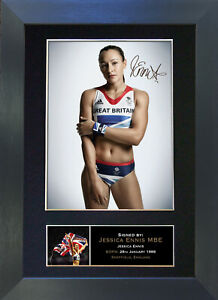JESSICA ENNIS Olympic Star Signed Mounted Reproduction Autograph Photo Print 266