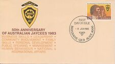 (BB-21) 1983 AU FDC 27c 50th anniversary of the JAYCEES