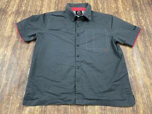 Can-Am Spyder Men's Gray Button-Down Short-Sleeve Shirt - Large