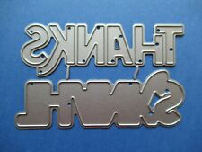 NEW Thanks Words & Outline / Background Metal Craft Cutting Die