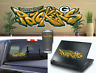 Green Bay Packers Graffiti Vinyl Vehicle Car Laptop Yeti Cup Wall Sticker Decal
