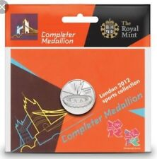 Olympic Games London 2012 Completer Medallion For 50p Set coin sealed new
