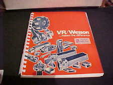1974 Vr/Wesson Tooling Catalog No. 740 164 Pages Milling Cutting Tools Machining
