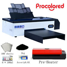 Procolored Dtf Flatbed Printer T Shirt Personal Diy For Home Business With Heater