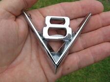 V8 METAL BADGE Chrome Emblem For Your Car *NEW* Vintage Style suit FORD Holden