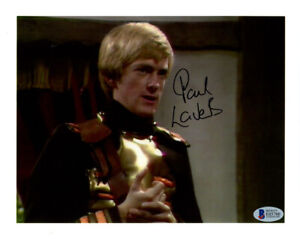 PAUL LAVERS SIGNED 8x10 PHOTO FARRAH ANDROIDS OF TARA DR. DOCTOR WHO BECKETT BAS