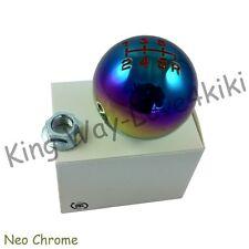 RED/NEO CHROME Aluminum ROUND 6 speed Shift Knob for HONDA CIVIC Accord S2000