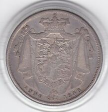 'Anno  1836'   King   William   IV   Half  Crown  (2/6d) -  Silver  92.5%  Coin