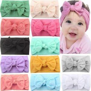 Baby Girls Bunny Bows Kids Turban Knot Rabbit Headband Bow Hair bands Head wrap
